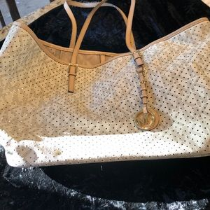 Michael Kors coated canvas perforated tote bag